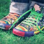Schuhe bemalt - Foto by A♥ - CC BY 2.0
